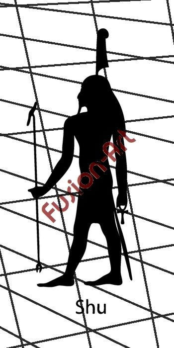 Egyptian God Shu Silhouette (Decal - Sticker)