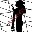 Egyptian God Isil Silhouette (Decal - Sticker)