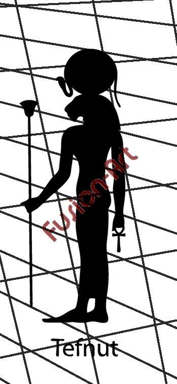 Egyptian God Tefnut Silhouette (Decal - Sticker)