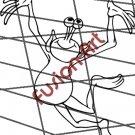Cartoon Alien UFO ET Silhouette 11 (Decal - Sticker)