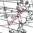 Cartoon Alien UFO ET Silhouette 12 (Decal - Sticker)