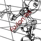 Cartoon Alien UFO ET Silhouette 13 (Decal - Sticker)