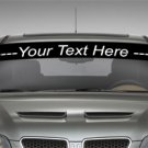 CUSTOM WINDSHIELD VINYL DECAL ANY LOGO TEXT | 5 X 40 (CAR WINDOW STICKER) 200+ CHOICES