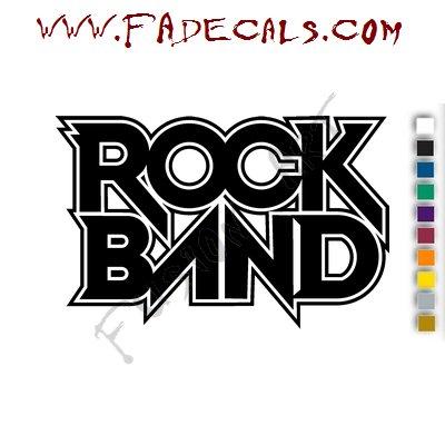 Rock Band Music Artist Logo Decal Sticker