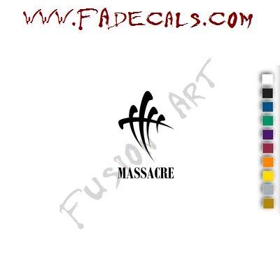Massacre Band Music Artist Logo Decal Sticker