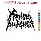 Maniac Butcher Band Music Artist Logo Decal Sticker