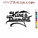 King Diamond Band Music Artist Logo Decal Sticker