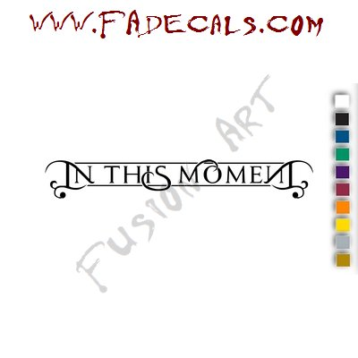 In This Moment Band Music Artist Logo Decal Sticker