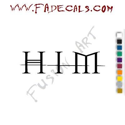 HIM H.I.M Band Music Artist Logo Decal Sticker