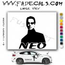 Neo Silhouette The Matrix Movie Logo Decal Sticker