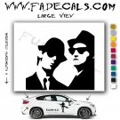 Blues Brothers Silhouette Movie Logo Decal Sticker