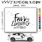 Fear & Loathing Las Vegas Movie Logo (Decal Sticker)