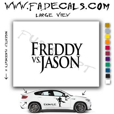 Freddy Vs Jason Movie Logo (Decal Sticker)