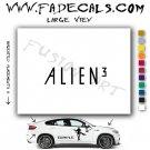 Alien 3 Movie Logo (Decal Sticker)