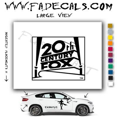 20th Century Fox Studio Logo (Decal Sticker)