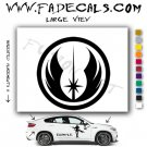 Jedi Order Star Wars Logo Sith Rebel (Decal Sticker)