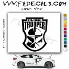Clone Trooper Badge Star Wars Sith Imperial  Logo Decal Sticker