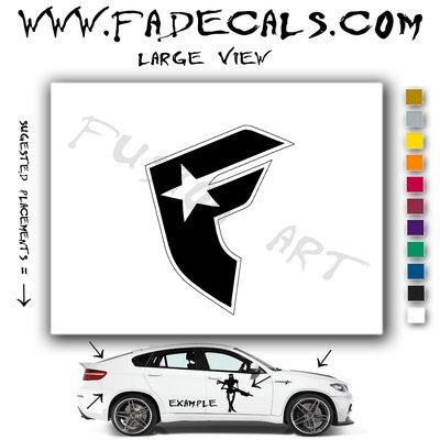 Famous Starts & Straps Skateboarding Brand Logo Decal Sticker