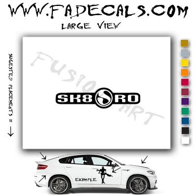 SK8SHO Skateboarding Brand Logo Decal Sticker