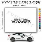 Star Trek Voyager TV Logo Decal Sticker