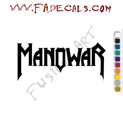 Manowar Band Music Artist Logo Decal Sticker