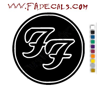 Foo Fighter Band Music Artist Logo Decal Sticker