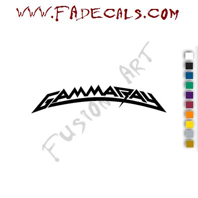 Gamma Ray Band Music Artist Logo Decal Sticker