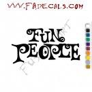 Fun People Band Music Artist Logo Decal Sticker