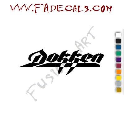 Dokken Band Music Artist Logo Decal Sticker