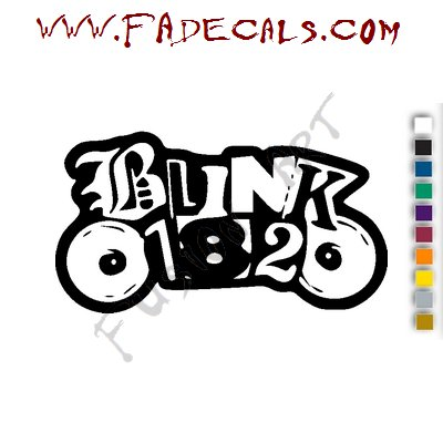 Blink 182 Punk Band Music Artist Logo Decal Sticker