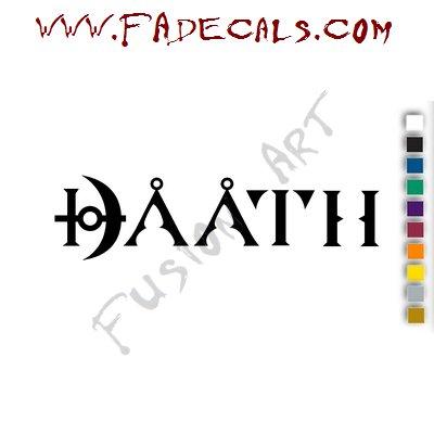 Daath Band Music Artist Logo Decal Sticker
