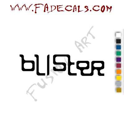 Blister Band Music Artist Logo Decal Sticker