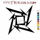 Metallica Ninja Star Band Music Artist Logo Decal Sticker