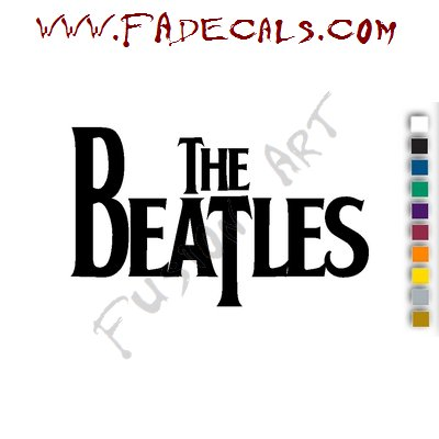 The Beatles Band Music Artist Logo Decal Sticker