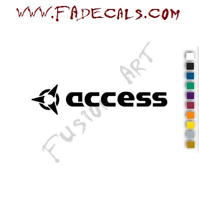 Access Band Music Artist Logo Decal Sticker