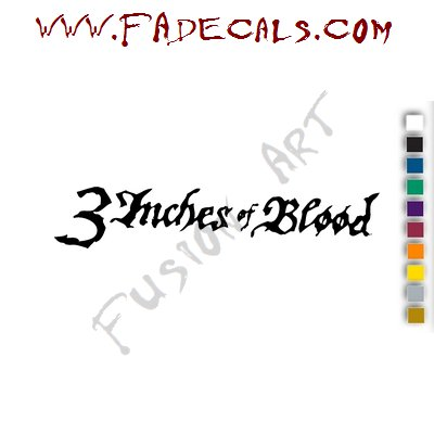 3 Inches of Blood Band Music Artist Logo Decal Sticker