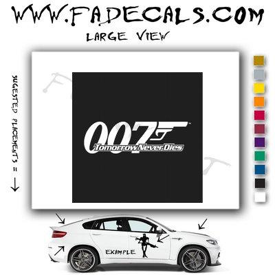 Tomorow Never Dies James Bond Movie Logo Decal Sticker