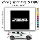 Man with golden Gun James Bond Movie Logo Decal Sticker