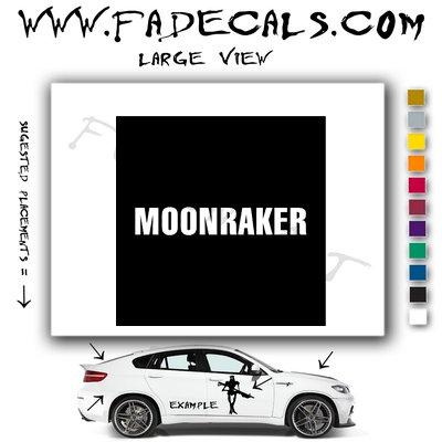 Moonraker James Bond Movie Logo Decal Sticker