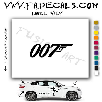 007 James Bond Movie Logo Decal Sticker