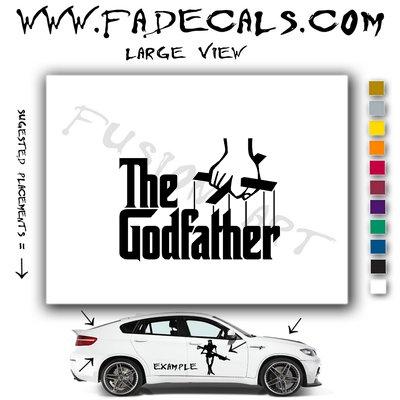 The God Father Movie Logo Decal Sticker