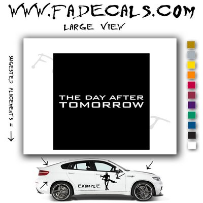 The Day After Tomorrow Movie Logo Decal Sticker