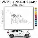 The Birth of the Pink Panther Movie Logo Decal Sticker