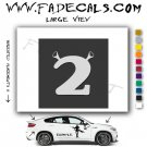 Shrek 2 Movie Logo Decal Sticker