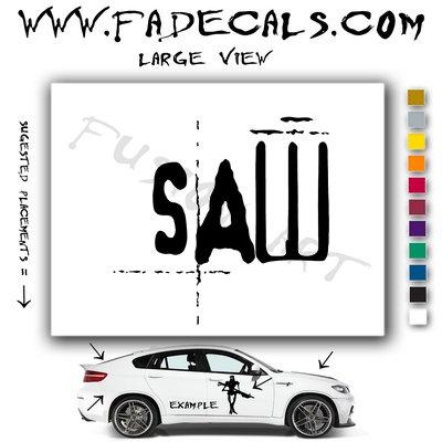 Saw Movie Logo Decal Sticker