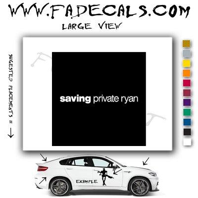 Saving Private Ryan Movie Logo Decal Sticker
