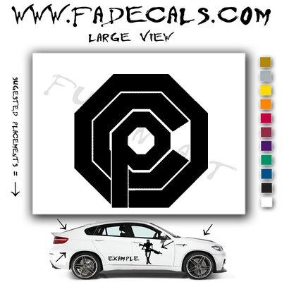 Robo Cop Movie Logo Decal Sticker