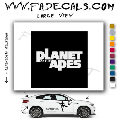 Planet Of the Apes Movie Logo Decal Sticker