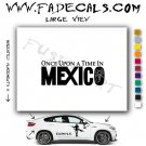 Once Upon A Time In Mexico Movie Logo Decal Sticker