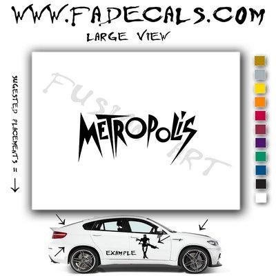 Metropolis Movie Logo Decal Sticker